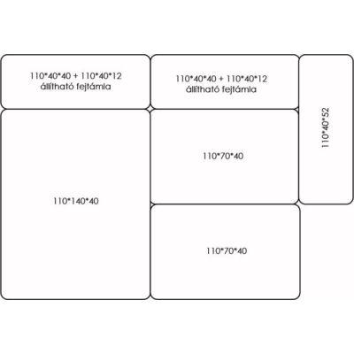 Háromrészes BOX kanapérendszer kiegészítőkkel. ÁR: 500.000 Ft